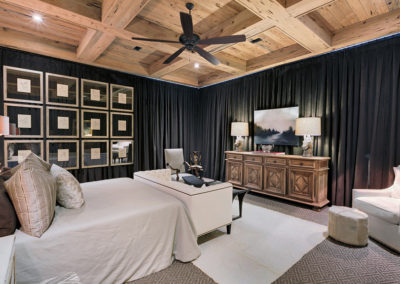 "Pecky cypress beams and coffered ceiling<br/><span class=""gallery-courtesy"">Courtesy Emerald Coast Real Estate Photography</span>"