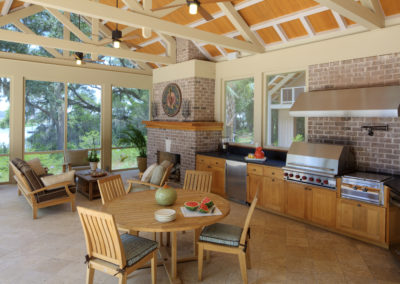 "Outdoor Cypress Kitchen <br/><span class=""gallery-courtesy""> @Frederick + Frederick Architects</span>"