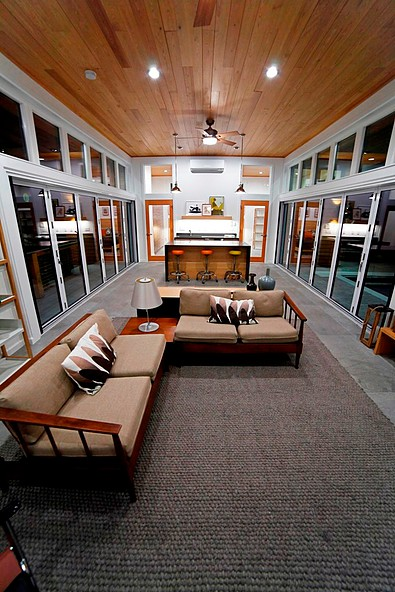 "Cypress ceiling at night<br/><span class=""gallery-courtesy"">Courtesy NextGen Home TV</span>"