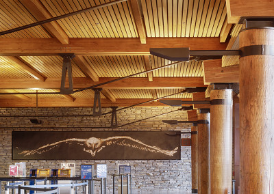 "Cypress acoustical ceiling.<br/> <span class=""gallery-courtesy"">Courtesy Matthew Millman</span>"