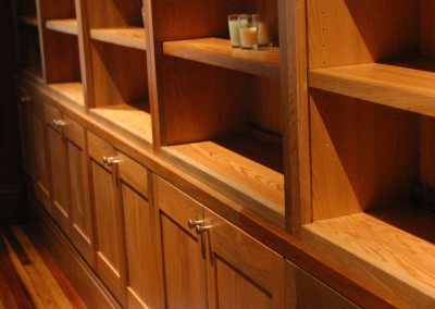 "Cypress cabinetry.<br/> <span class=""gallery-courtesy"">Courtesy Acadian Cypress and Hardwoods</span>"