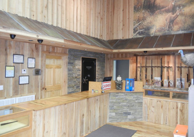"Cypress board and batten paneling.<br/> <span class=""gallery-courtesy"">Courtesy Beasley Forest Products</span>"