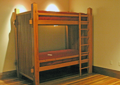 "Cypress bunk beds.<br/> <span class=""gallery-courtesy"">Courtesy Acadian Cypress and Hardwoods</span>"