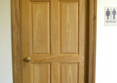 "Cypress door.<br/> <span class=""gallery-courtesy"">Courtesy Acadian Cypress and Hardwoods</span"