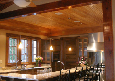 "Cypress ceiling and cabinetry.<br/> <span class=""gallery-courtesy"">Courtesy Acadian Cypress and Hardwoods</span>"