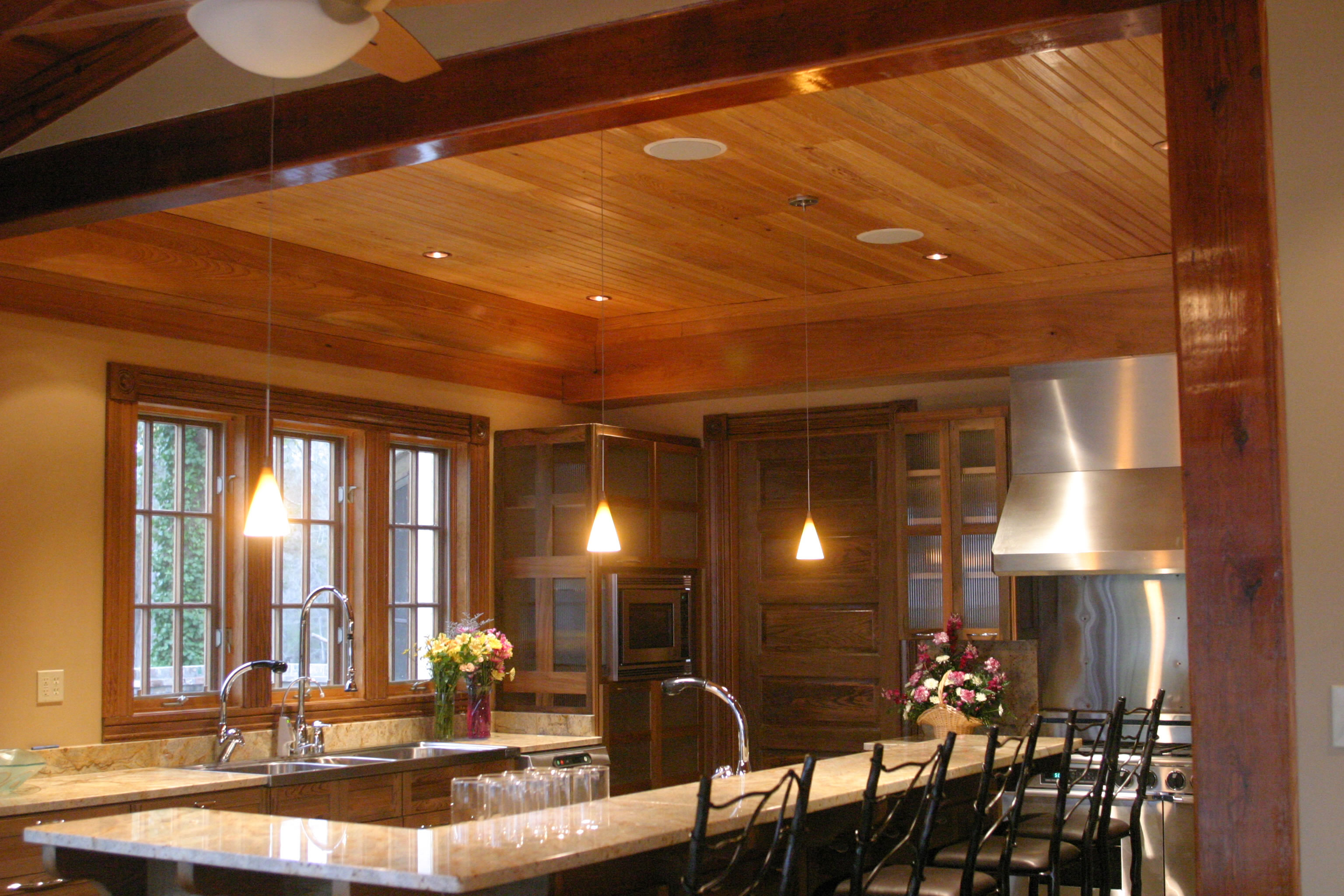 Cypress Ceiling And Cabinetry. Courtesy Acadian Cypress And Hardwoods
