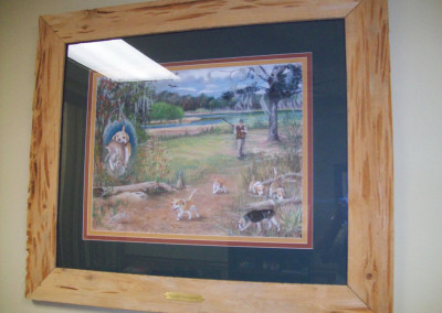 "Pecky cypress picture frame.<br/> <span class=""gallery-courtesy"">Courtesy Beasley Forest Products</span>"