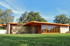 Cypress Enhances 75-Year-Old Home Plan by Frank Lloyd Wright