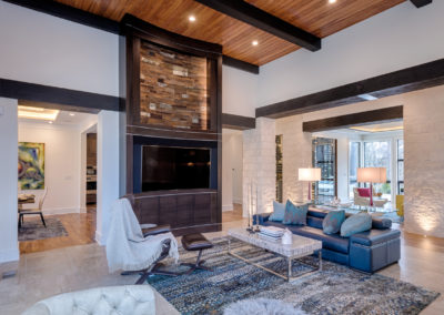 Cypress ceiling and beams