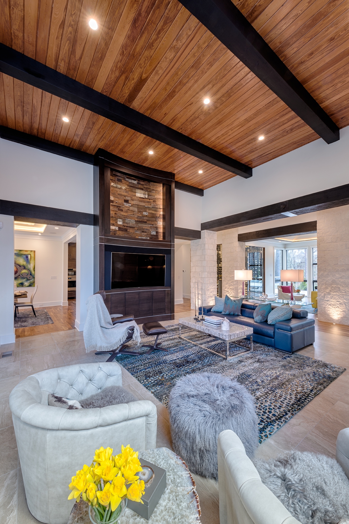 Cypress Ceiling And Beams Br Span Cl Gallery Courtesy